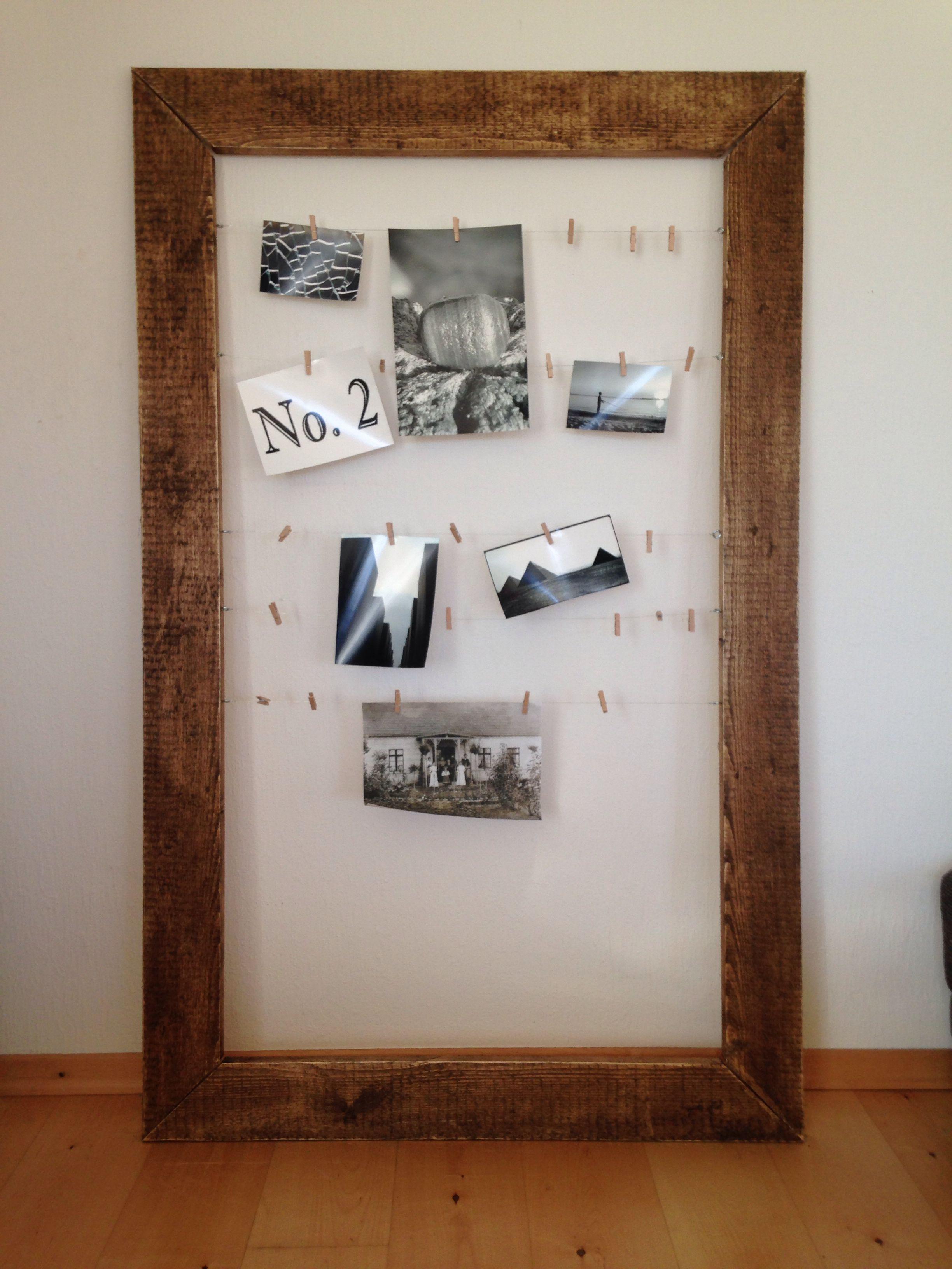 Photo-Rahmen in XXL- aus alten Latten mit Gehrungsschnitt habe ich ...