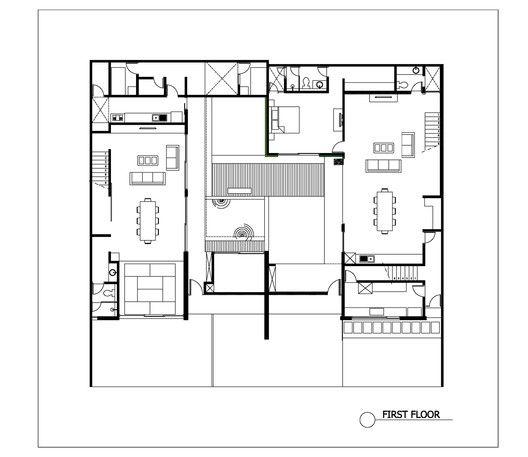 Gallery Of 2628 Sister House Pranala Associates 15 Floor Plans Chettinad House House Simple chettinad house plan