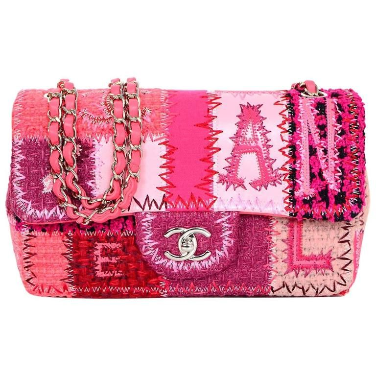 c65e2aca35e Chanel 2016 Pink Tweed and Leather Patchwork 10