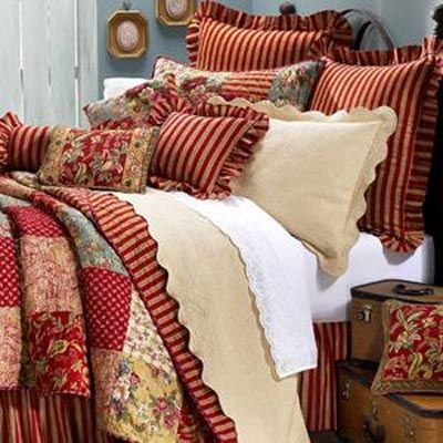 French Country Savonne Cotton Standard Quilt Sham French Country