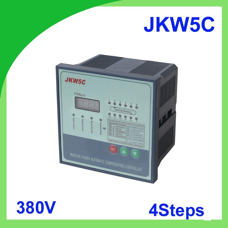 Jkw5c Jkl5c Power Factor 380v 4steps Reactive Power Automatic Compensation Controller Capacitor For 50 60hz Capacitor Power Automatic