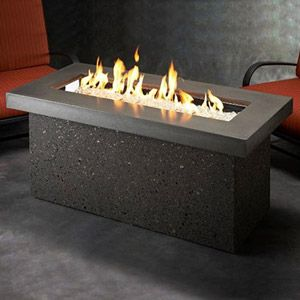 Photo of Key Largo Linear Gas Fire Pit – Midnight Mist – KL-1242-MM-K
