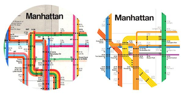 New York Subway Map 2008.Aliceito Massimo Vignelli Subway Map Nice Comparison Between The