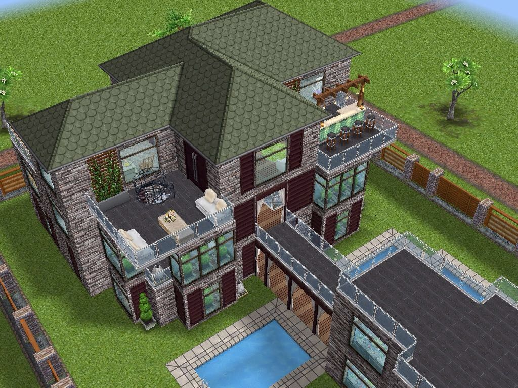 House 66 full view sims simsfreeplay simshousedesign - Sims 3 spielideen ...