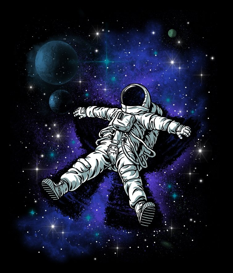 Astronaut's Snow Angela design by Ben Chen for Threadless