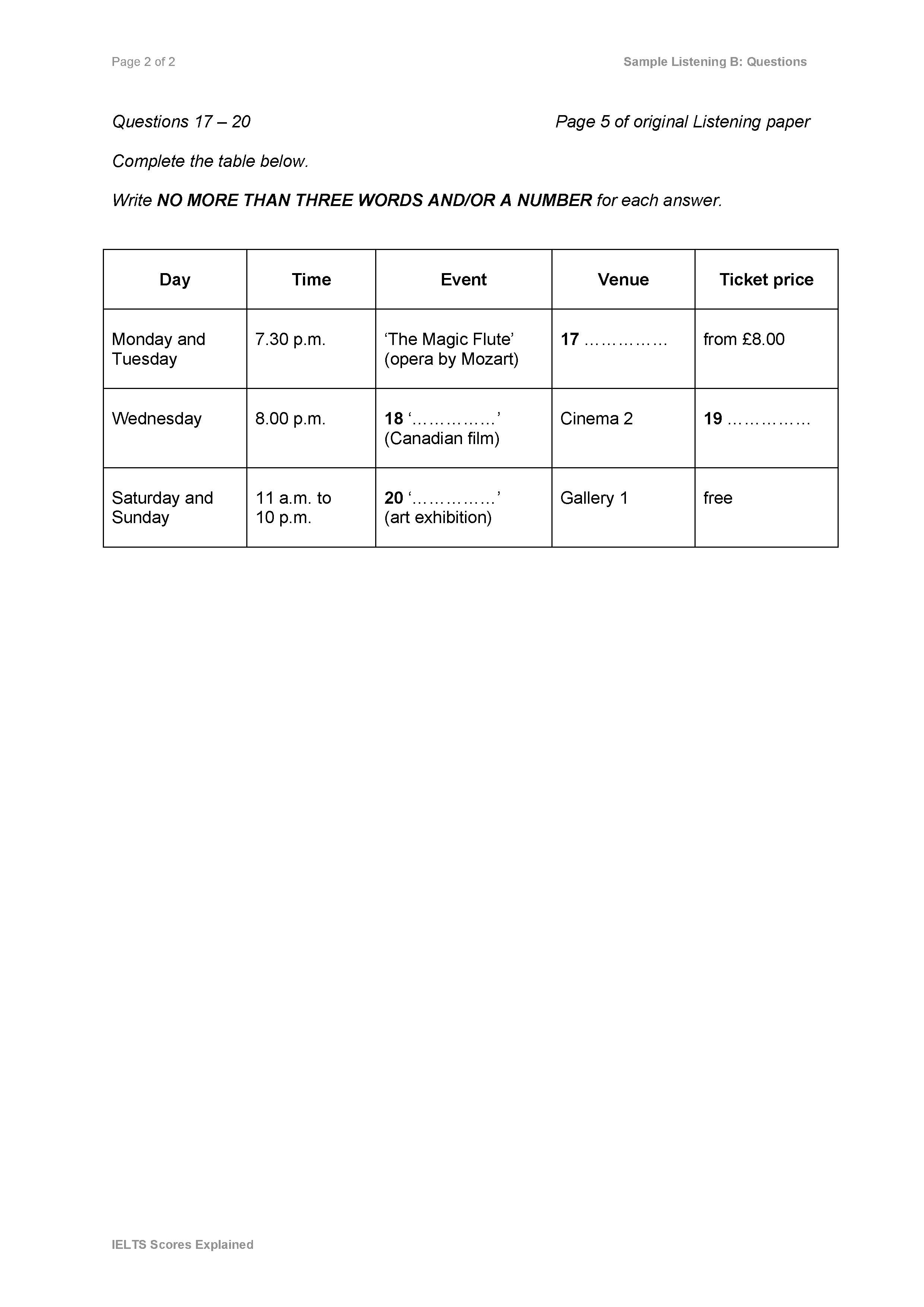 Form Note Table Flow Chart Summary Completion 2