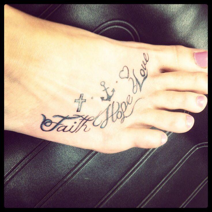Faith Love And Hope Bracelet Tattoo On Ankle: Love It. ( Faith Hope Love ) Tattoo