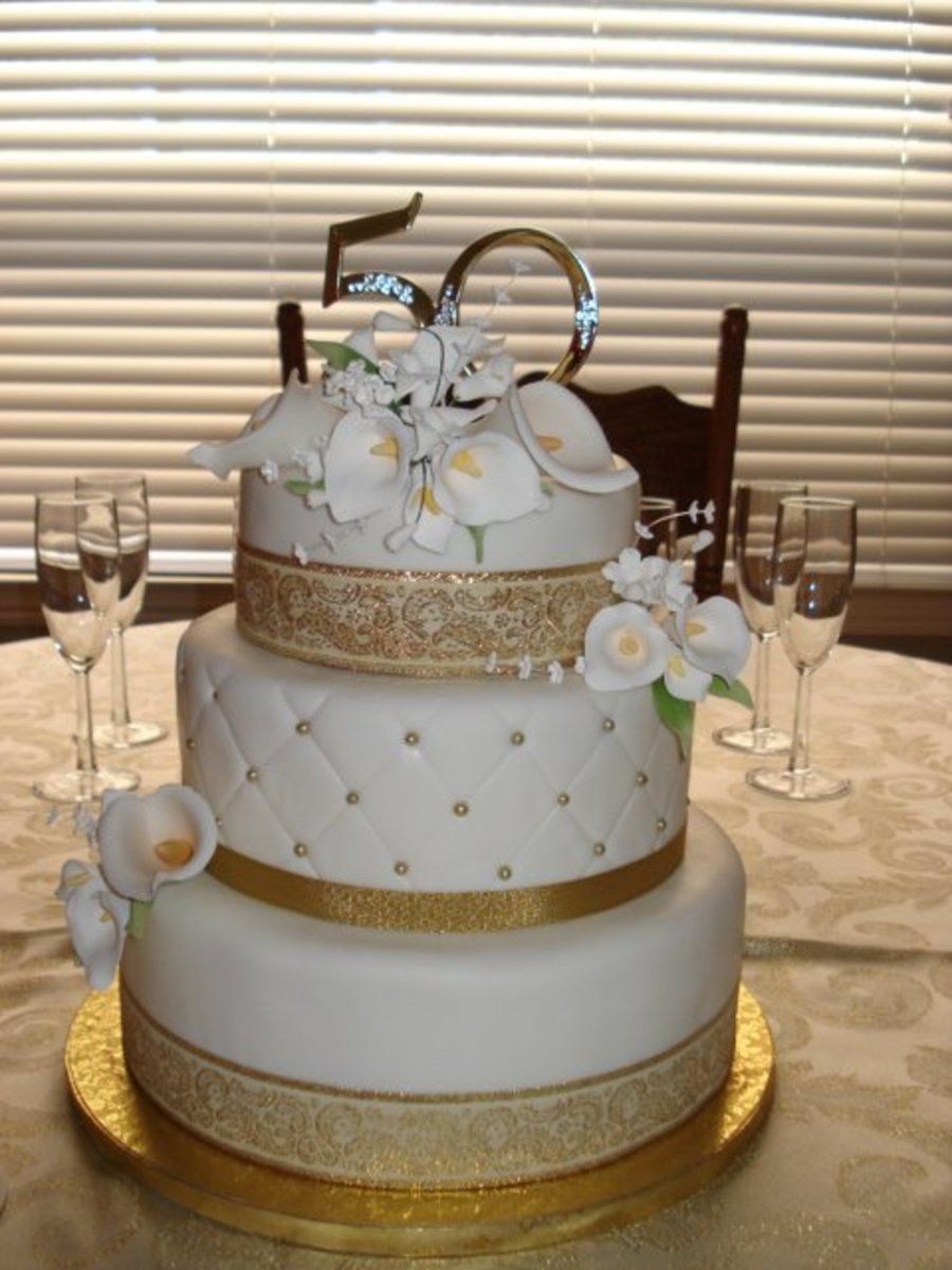 50Th Wedding Anniversary Cake On Cake Central