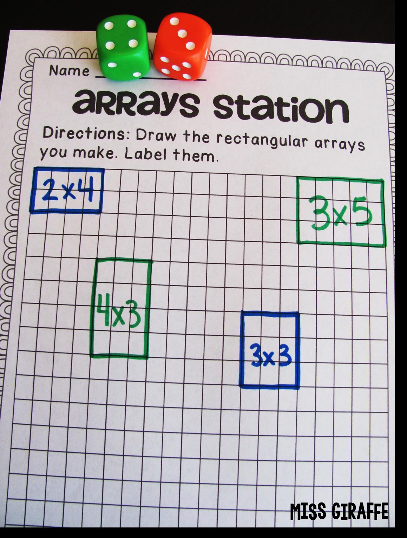 Uncategorized Array Worksheet how to teach arrays puzzles centers worksheets small miss giraffes class arrays