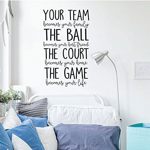 Volleyball or Basketball Wall Decal Your Team Vinyl
