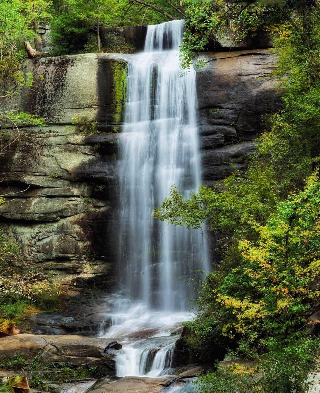 Twin Falls or Eastatoe Falls Twin falls, Waterfall