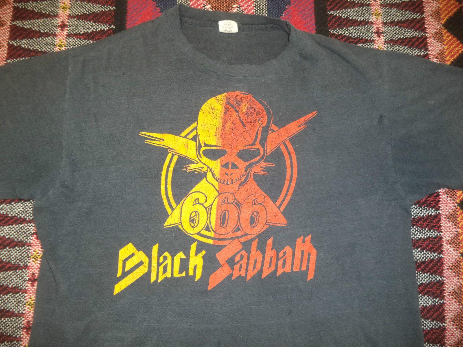 Black sabbath t shirt etsy - Vtg 70s Black Sabbath 666 Rock Promo Tour Concert T Shirt S M Made Usa