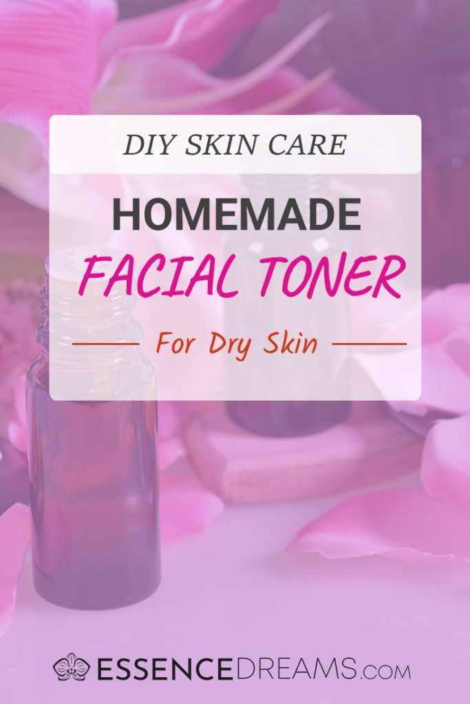 DIY Facial Toner Recipe for Dry Skin - Easy homemade natural skin care with essential oils! Get rid of flaky skin with this hydrating toner.
