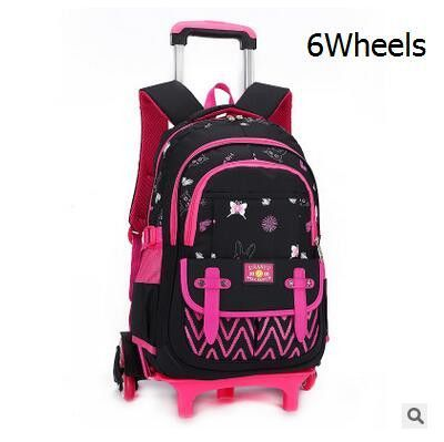 kids Rolling Backpack for School Kids Trolley School Bag for Girl ...