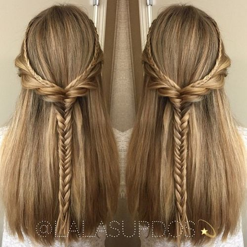 50 Half Updos For Your Perfect Everyday And Party Looks Hair Styles Straight Hairstyles Long Hair Styles
