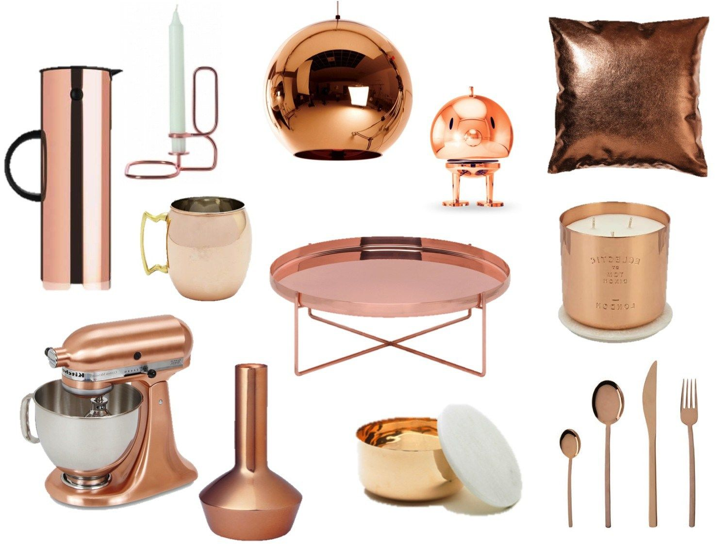 accessories and gold rose decorations copper kitchen decomg majestic themes