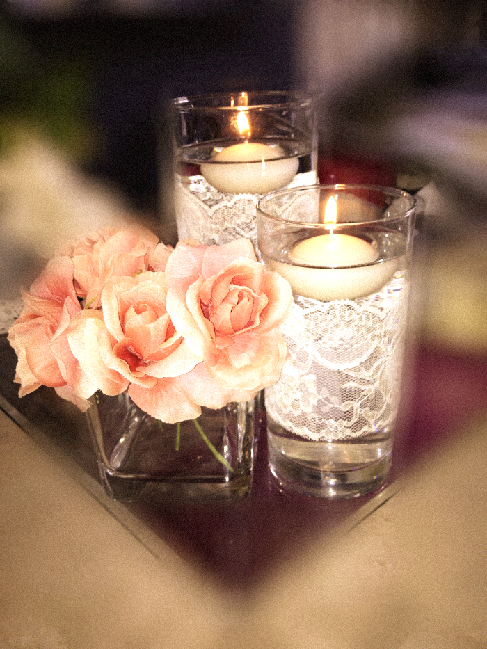 Diy centerpieces for under ten dollars this is simple for Cheap and easy wedding decorations