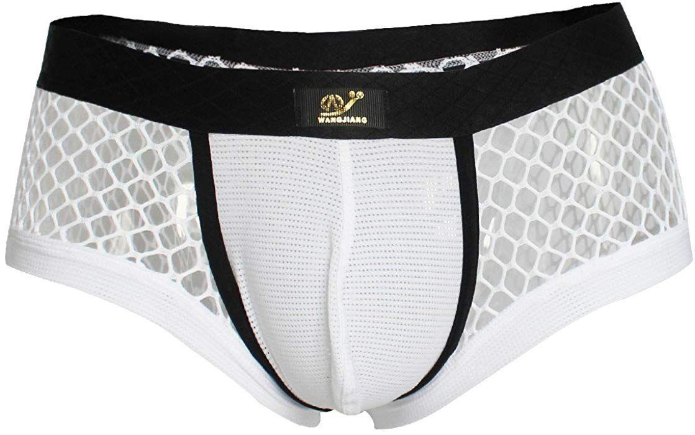 af575825dd96 YiZYiF Men's Openwork Mesh Breathable Sexy Bikini Brief Swimwear Sold by  SHIFANG (Small(Waistline 26.0-34.5