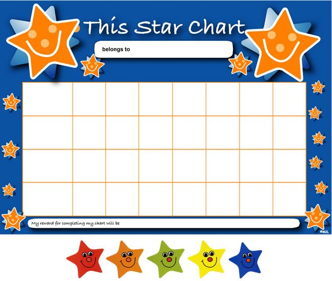 Sticker Reward Chart Template | Charts For Future | Pinterest