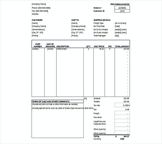 Proforma Invoice templatess XLS Format , Microsoft Excel Invoice - how to write a simple invoice