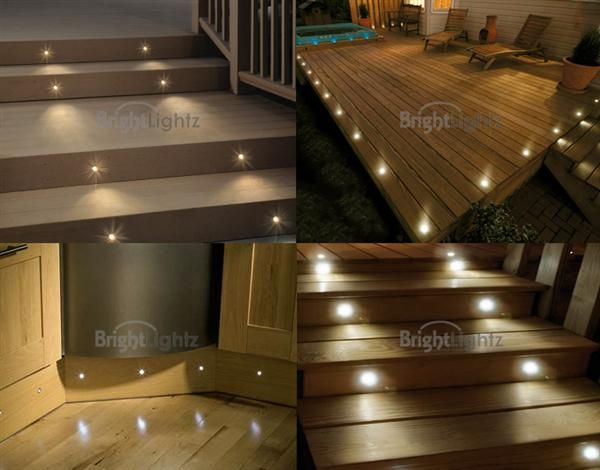 Set of 10 LED Deck Lights / Decking / Plinth / Kitchen Lighting Set - Warm