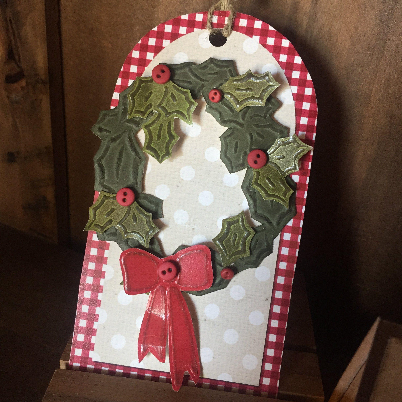 warm wishes handmade card  tag kit  lasting impressions