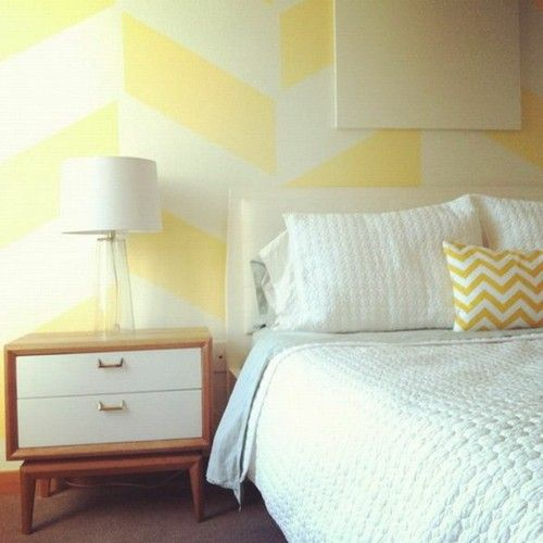 Wall pattern ideas wall decoration geometric forms of butter yellow ...