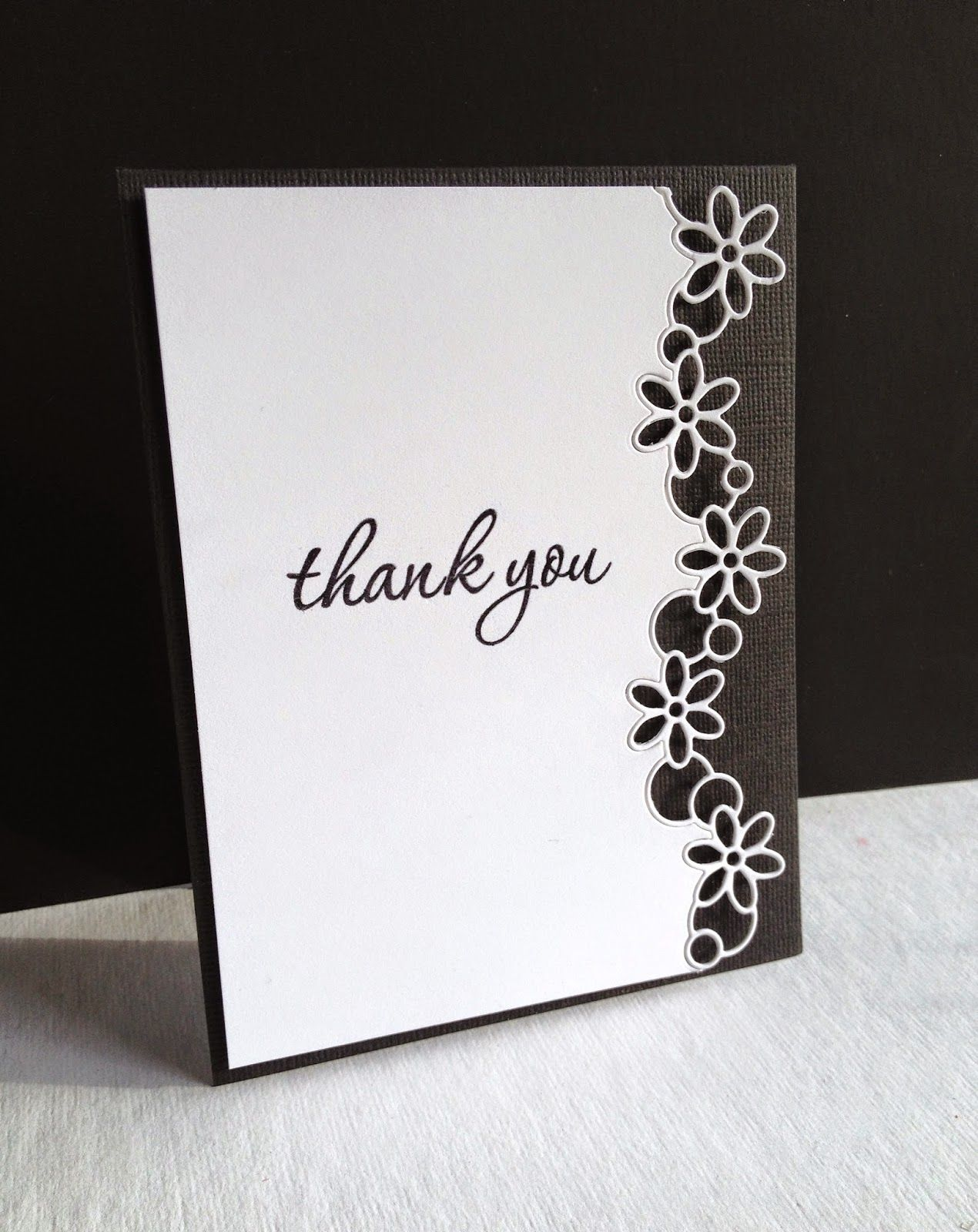 Handmade Thank You Card Fro I M In Haven Black And White