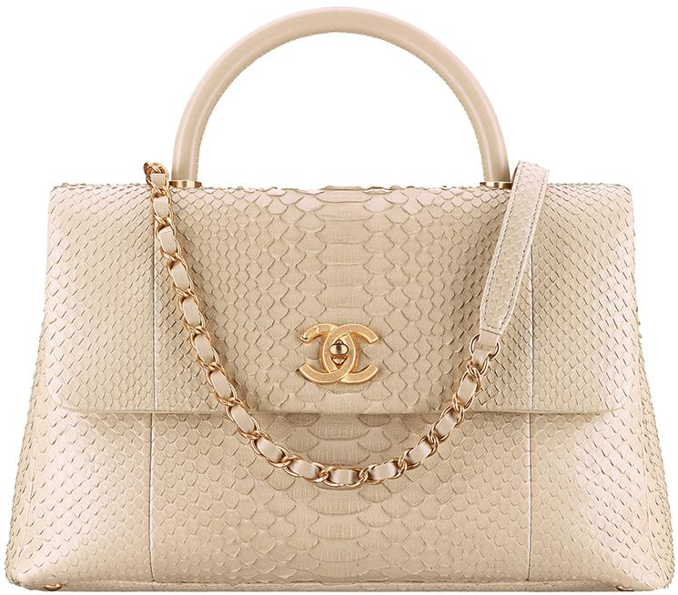 Chanel Mini Python Coco Handle Bag Style code  A92990 Size  5.5 x 9.4 x 534a9c5851685