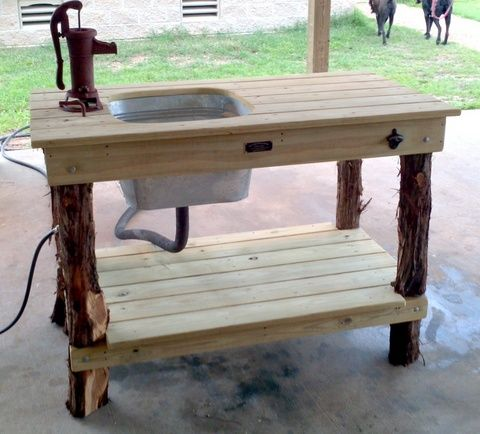 Back porch sinks web site i want washing produce before for Fish cleaning table with sink
