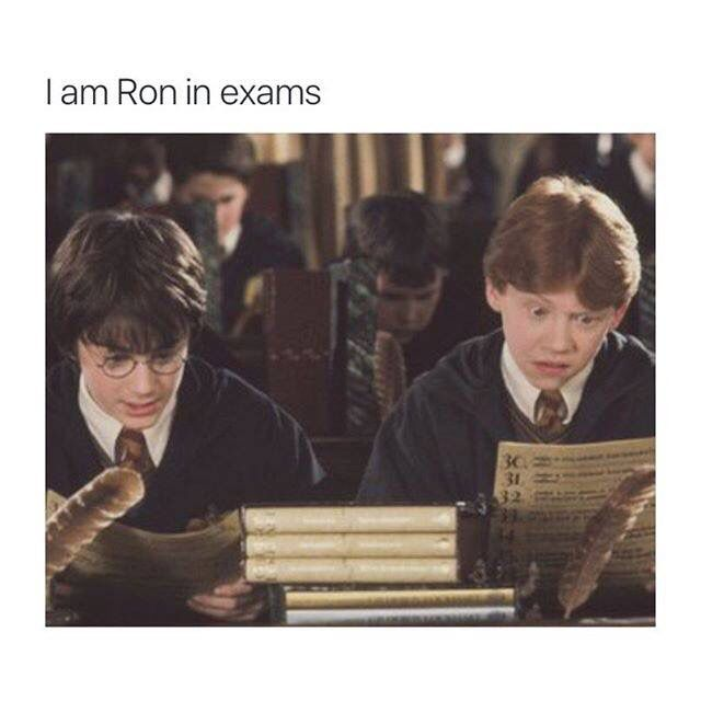 I Am Ron During Exams Harry Potter Fan Harry Potter Memes Harry Potter Jokes
