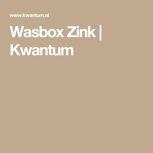 Wasbox Zink | Kwantum