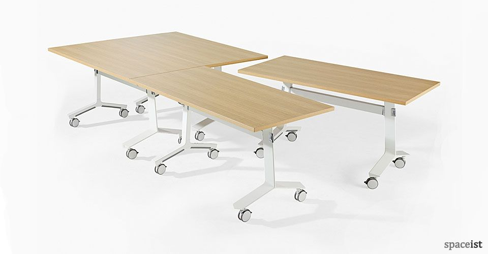 Blade Oak Laminate Folding Conference Table