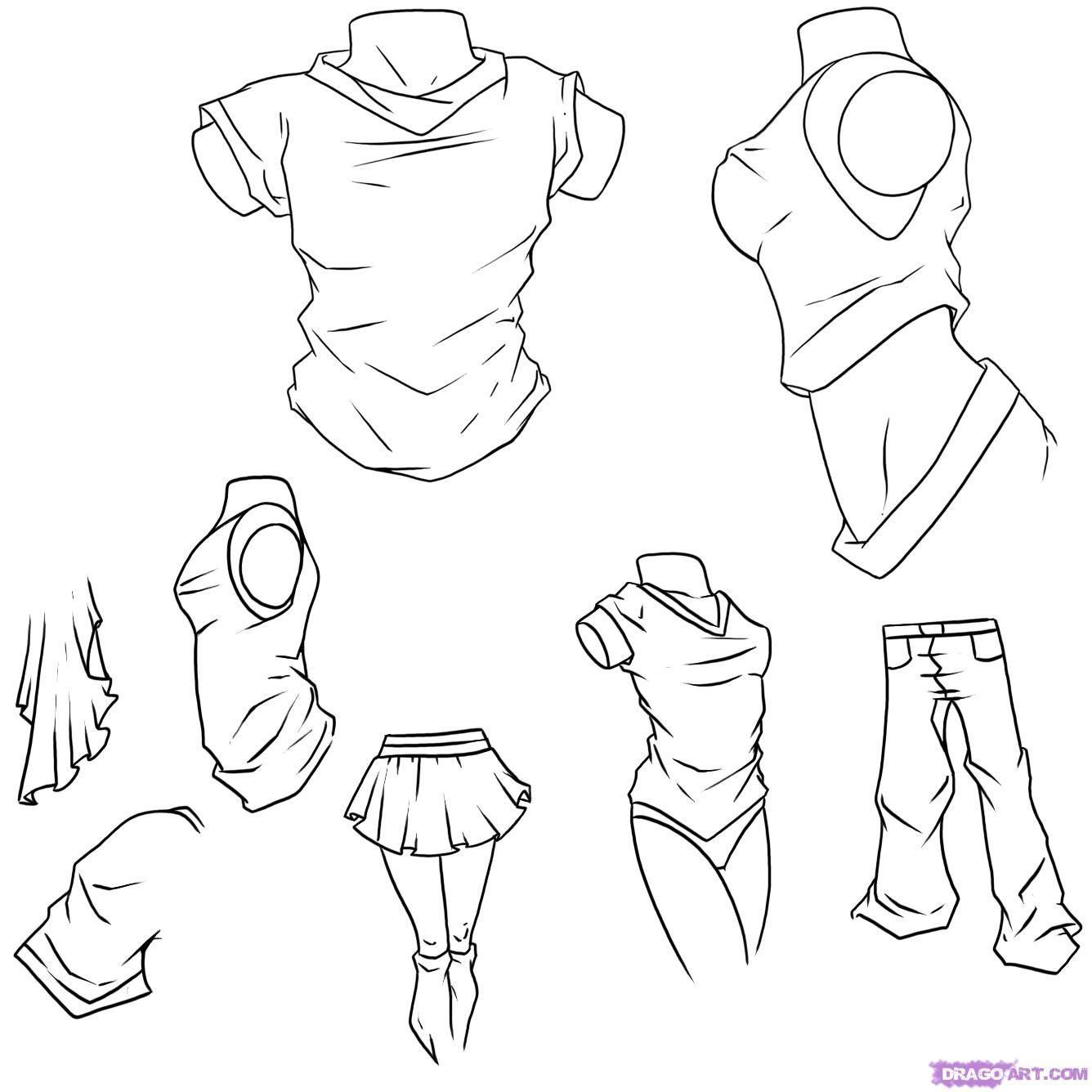 How To Draw Anime Clothes By Dawn Desenhando Roupas De Anime