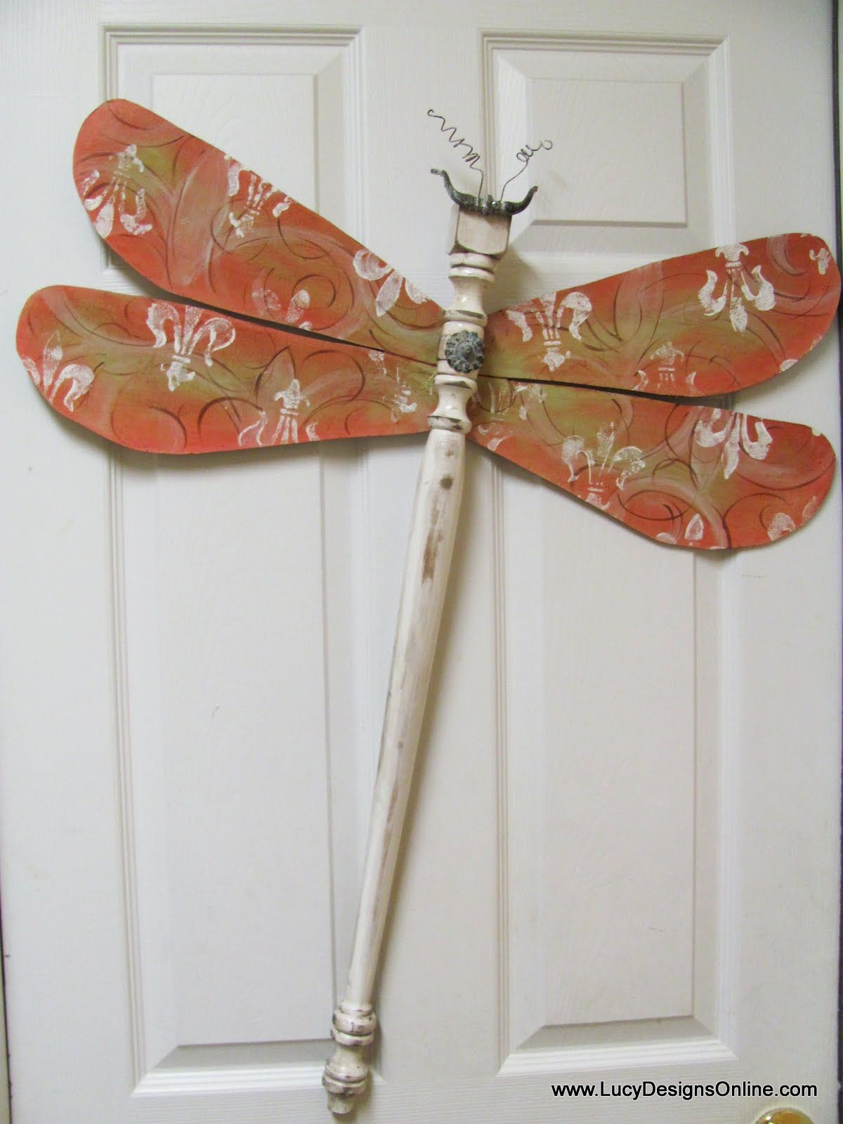 7ae5835fc9fc Table Leg Dragonflies with Stained Glass Mosaic Wings