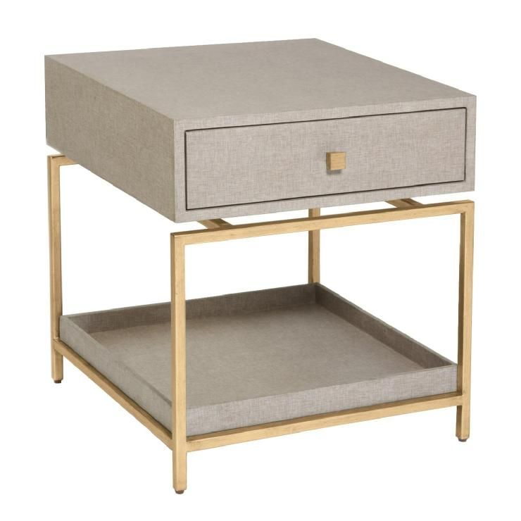 Tables Alexander Side Table FlaxGold alexander side table