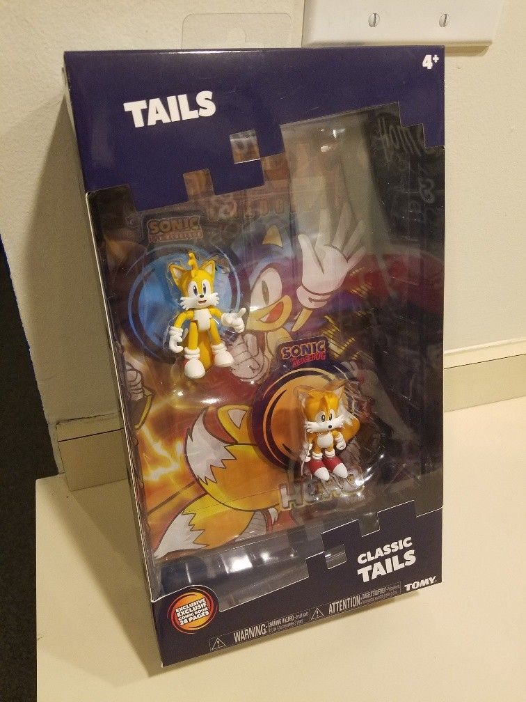 29 99 Tomy Classic Modern Tails Sonic The Hedgehog 2 Pack 3 Figure Sonic Hero Comic Tomy Classic Sonic Heroes Tails Sonic The Hedgehog Comic Heroes