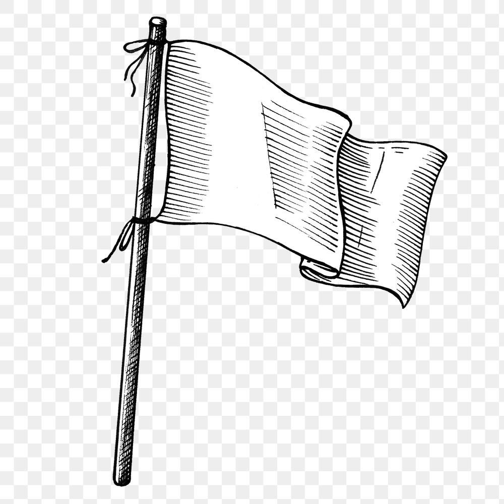 Hand Drawn White Flag Design Element Free Image By Rawpixel Com Hein