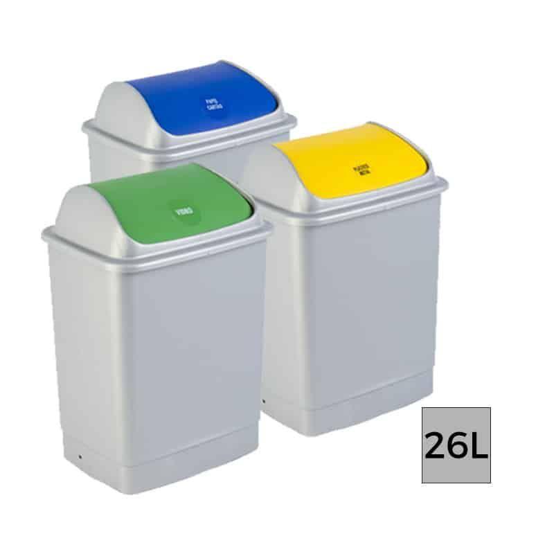 Lot De 12 Eco Tri Poubelle Plastique Tri Selectif 26l With Images