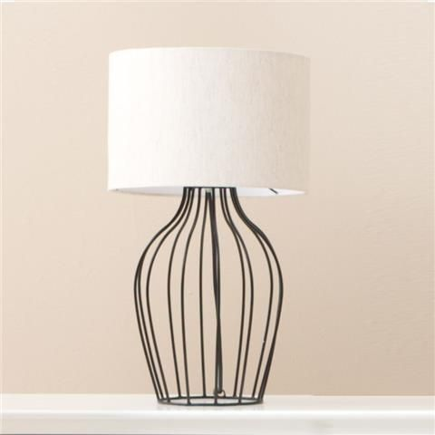 $20 Industrial Table Lamp Shade Diameter: 26cm Assembled Height: 46cm Urban  | Kmart