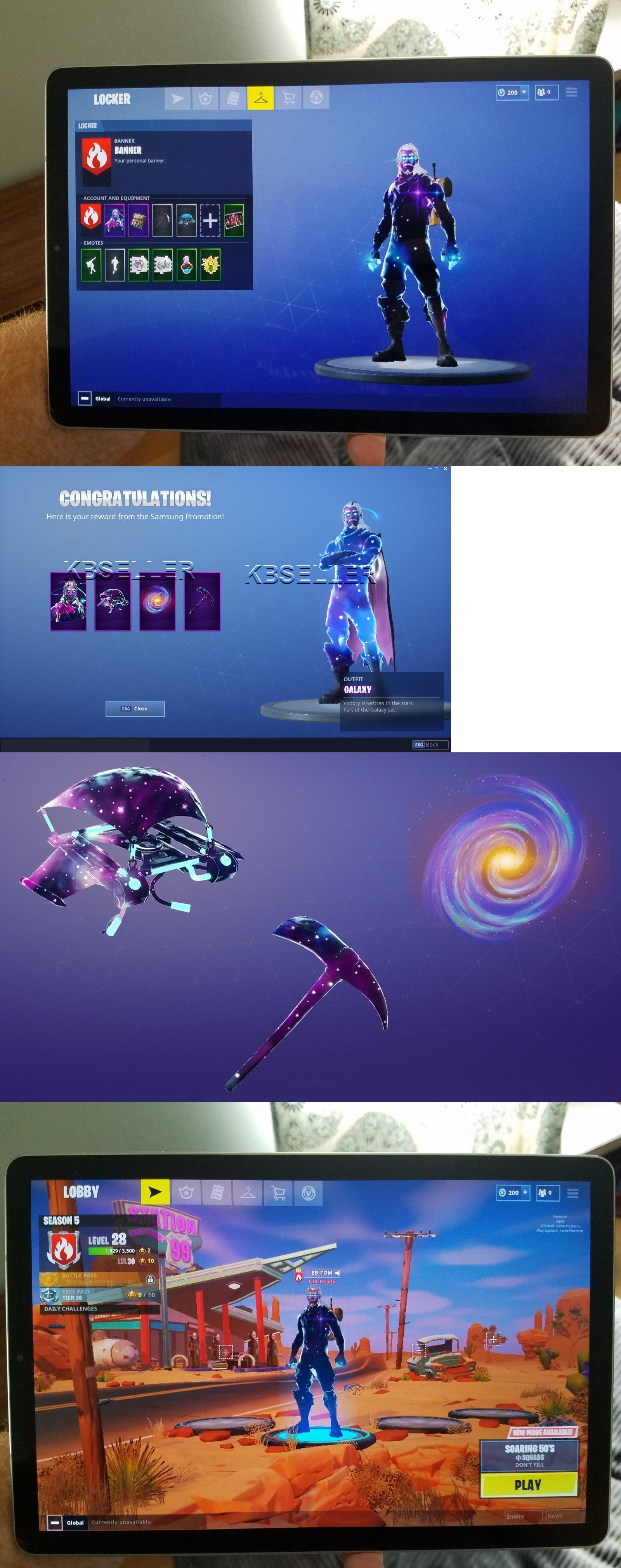 Other Video Game Accessories 49230: Fortnite Galaxy Skin, Glider