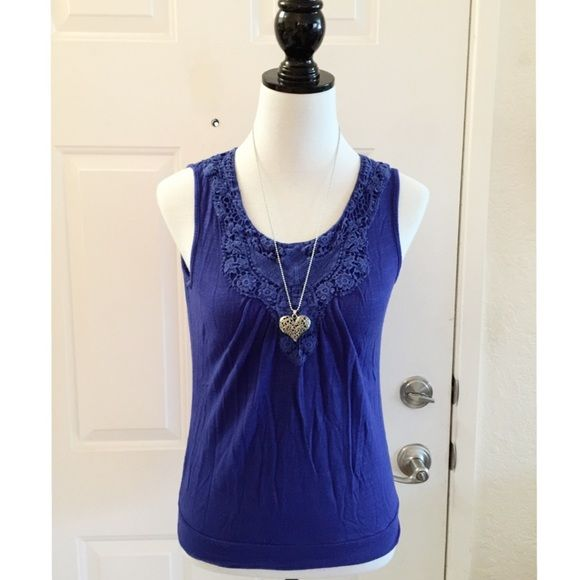 Any 3 for $12 items Blue tank top (M). Woman's blue cute tank top. Stretchy size medium. In good condition. Cute with jeans or leggings. Bundle more and save. Thank you. Cable & Gauge Tops Tank Tops