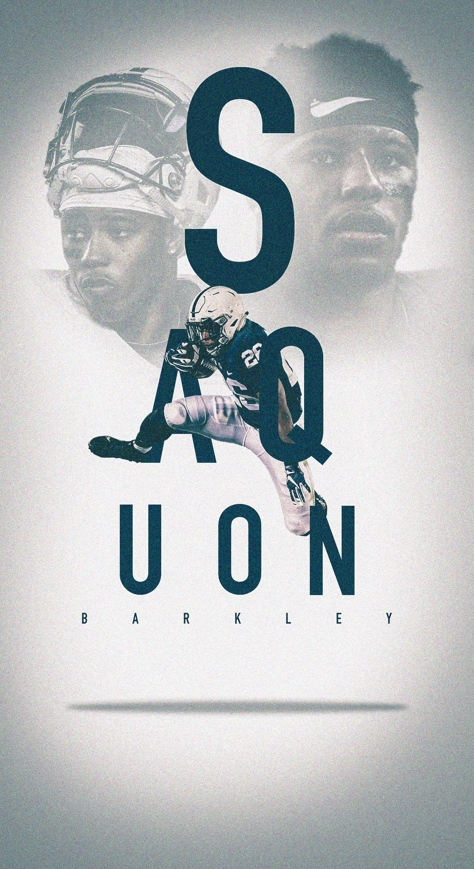 Check Out This Behance Project Saquon Barkley Ios Wallpaper Https Www Behance Net Gallery 62239915 Saqu Nfl Football Wallpaper Giants Football Penn State