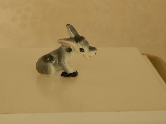 d79644a82020 Vintage Miniature Donkey Bug House Bone China by FreshStyleStudio    https   www.