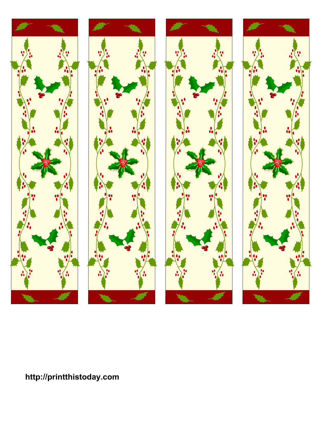 Free Printable Christmas Bookmarks | Christmas Printables ...
