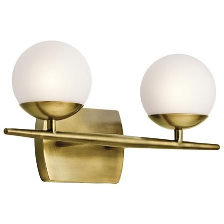 165 X Lighting Jasper Collection Natural Brass Halogen Bath/Vanity Light