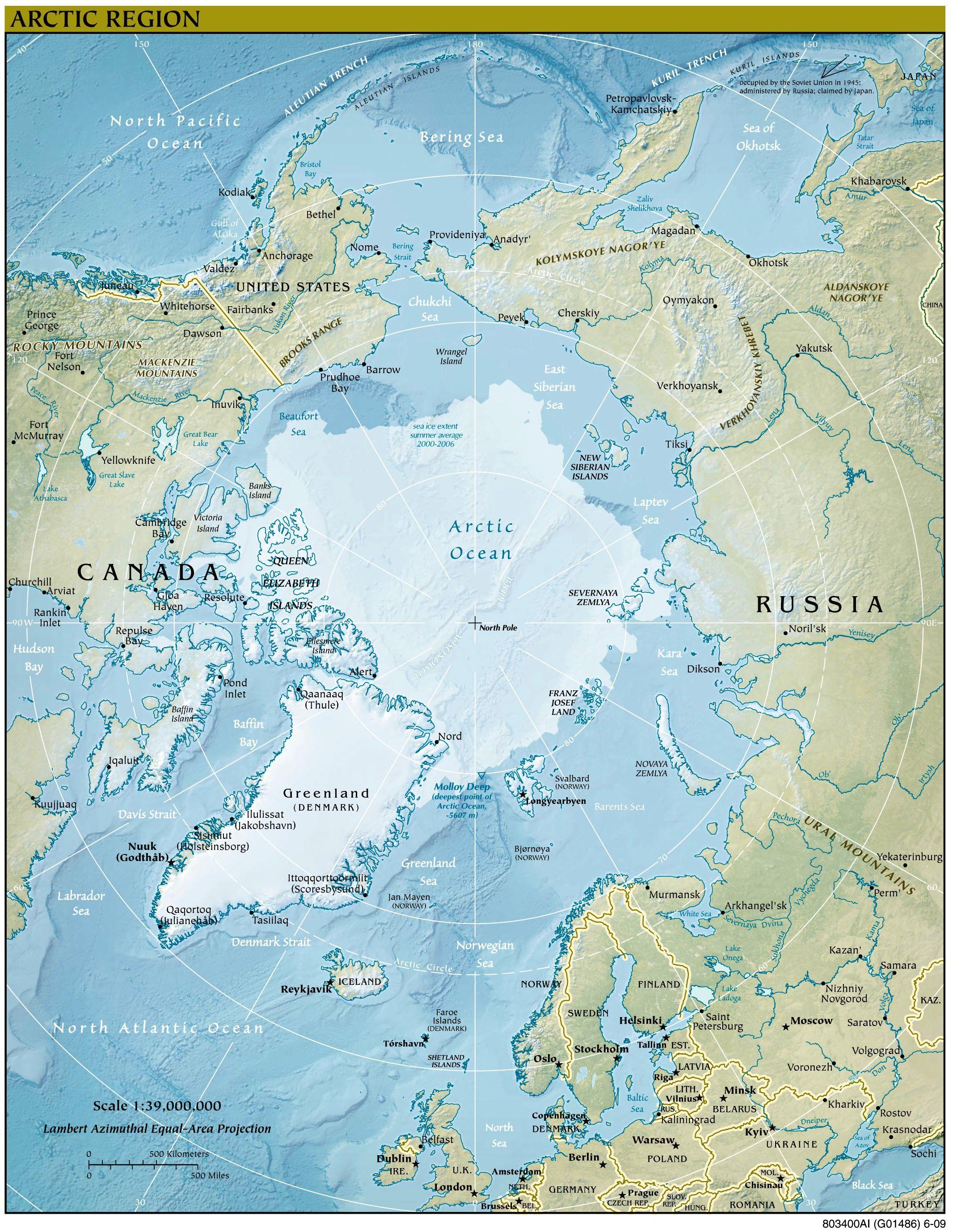 Arktis Landkarte Im Gronland Reisefuhrer Http Www Abenteurer Net