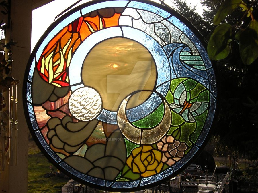 Elements stained glass by LoneDireWolfess on DeviantArt