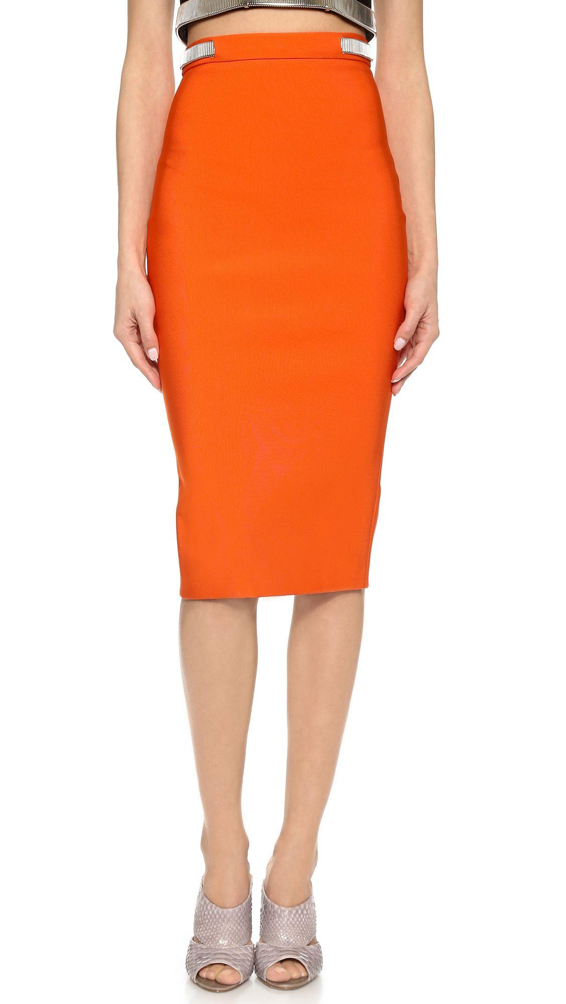 Jersey pencil skirt MUGLER Discount Browse ksxG2cyFYW