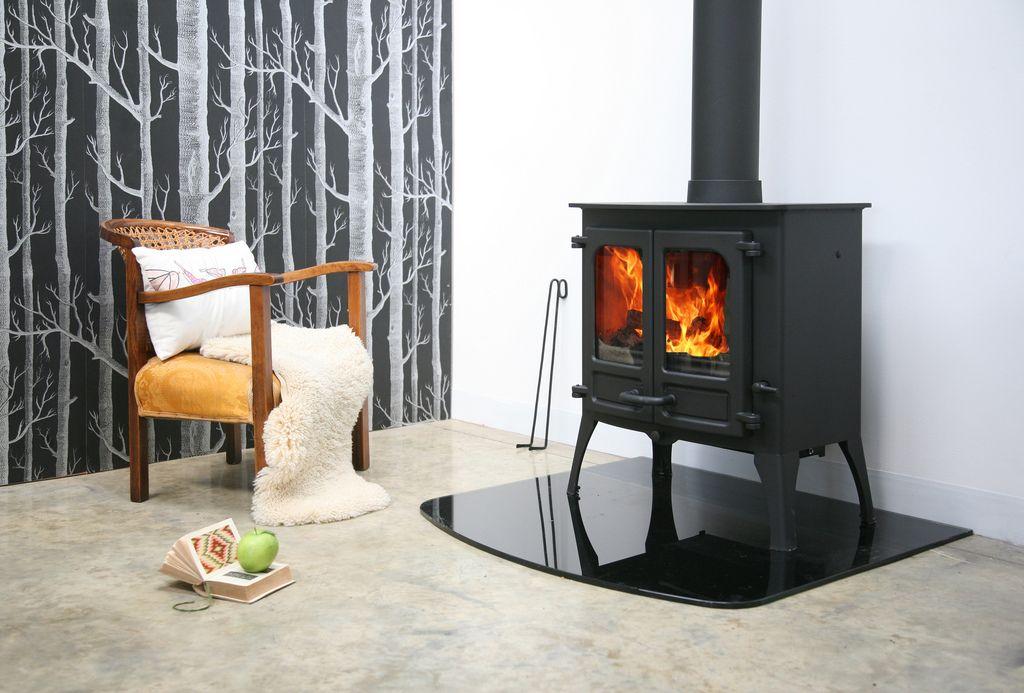 Charnwood Island Ii With High Legs Freestanding Fireplace Wood Burning Stove Wood Fuel